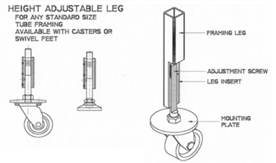Height Adjustable Leg